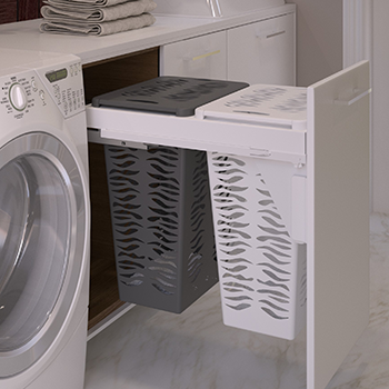 Sige Laundry Hamper Double With Soft, Laundry Basket Cabinet