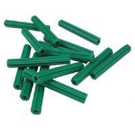 Wall plugs 7 x 50mm, green plastic, box of 500
