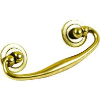 "Handle ""Epoch"", Swivel bail, 64mm c/c, antique brass"