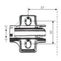 Artia hinge mounting plate, 2mm, screw-fix, each
