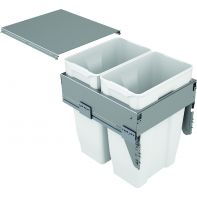 Sige twin waste organiser (soft-close ), suits 450mm width, 70l (2x35l), ea.