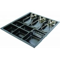 """Cash drawer insert """"STS"""", 3 note / 6 coin compartments, 280 x 330 x 38mm, each"""