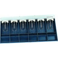 """Cash drawer insert """"Bank"""", 6 note / 6 coin compartments, 498 x2 85 x 55mm, each"""