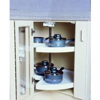 Kimberly three quarter carousel (270 deg), white PVC tray, 720mm diameter, ea.