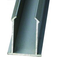 Toilet partition channel insert, 2700mm, aluminum anodised, each