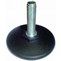 "Glide ""Sixty"", adjustable non-swivel, 60mm diameter, 3/8"" x 38mm, black, each"