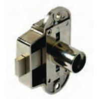 BMB Espagnolette lock housing, LH/RH adjustable, nickel plated, ea.