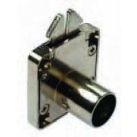 BMB roller shutter lock housing with striker plate, nickel plated, ea.
