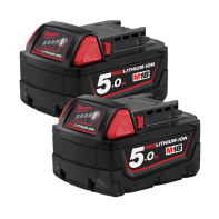 Milwaukee M18 REDLITHIUM®-ION 5.0AH Battery Twin Pack