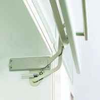 Sugatsune SLUN-N vertical flap stay mechanism, soft-close, suit cabinet height 390-450mm (2 pce set)