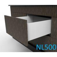 Topaz Slimline Tall Drawer Kit H199, NL500, screw-fix, white (each)