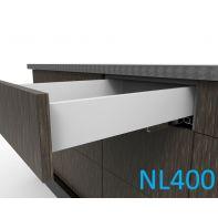 Topaz Slimline Standard Drawer Kit H86, NL400, screw-fix, white (each)