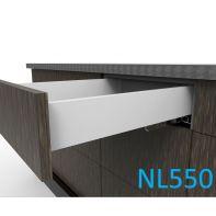 Topaz Slimline Standard Drawer Kit H86, NL550, screw-fix, white (each)