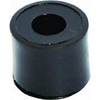 Spacer, 19mm diameter x 6.5mm, suit 6.4mm hole, nylon, black, each