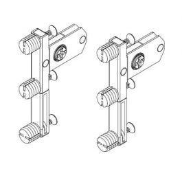 Topaz Slimline Drawer System quick-dowel front brackets H118 (set)