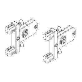 Topaz Slimline Drawer System quick-dowel front brackets H86 (set)