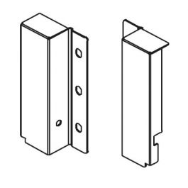 Topaz Slimline Drawer System rear bracket H118 (white), pair