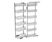 Sige Pull-out Tandem Pantry, 1800mm tall, suits 450mm Cabinet, incl. 12 baskets