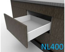 Topaz Slimline Maxi Drawer Kit H118, NL400, quick-dowel fix, white (each)