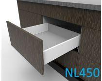 Topaz Slimline Maxi Drawer Kit H118, NL450, quick-dowel fix, white (each)