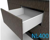 Topaz Slimline Mid-height Drawer Kit H167, NL400, quick-dowel fix, white (each)