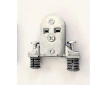 N ~ Z2 expanding dowel front bracket (metal), with pre-installed screws, each